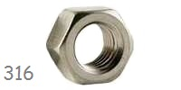 Hex Nut, UNC Stainless 316