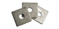 Square Plate Washers, HD Galv.