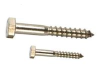 "3/8""-7 x 3""  Hex Lag Screw, Stainless 18-8 Coarse,  1 ea"