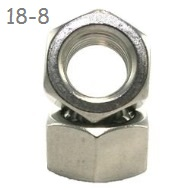 "1 3/8""-6 Hex Nut, UNC (Coarse) Stainless 18-8 (A2),  1 ea"